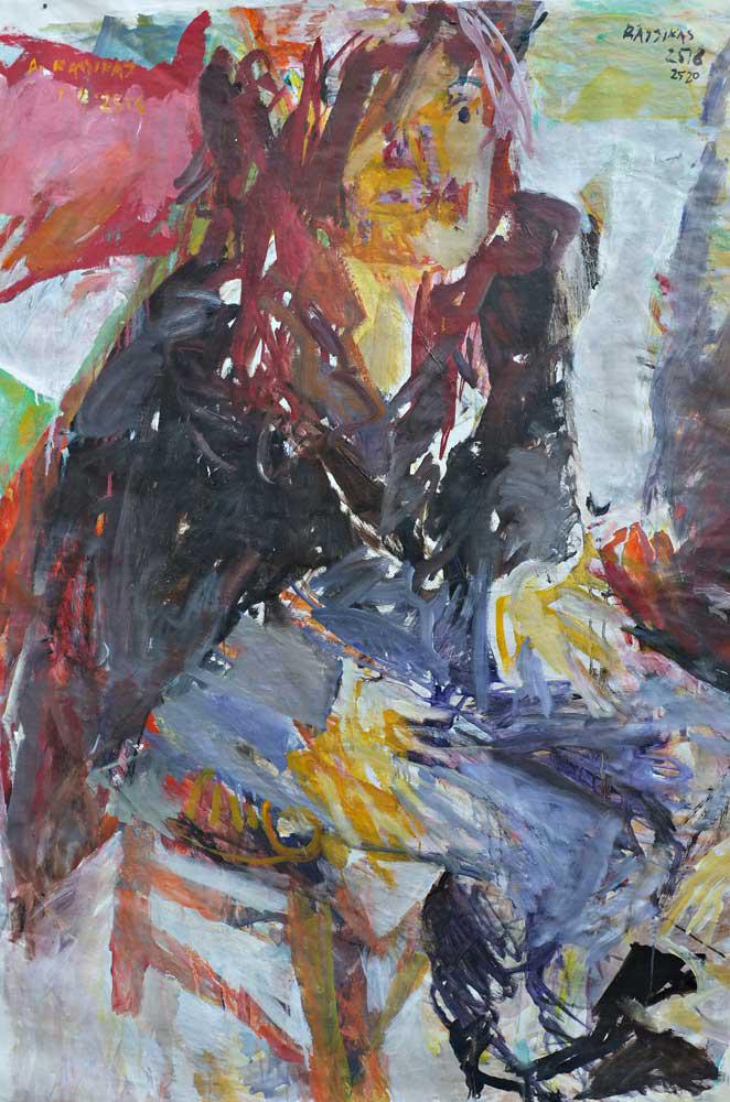 Young Woman, L., oil on canvas, 150 x 100 cm, 2009