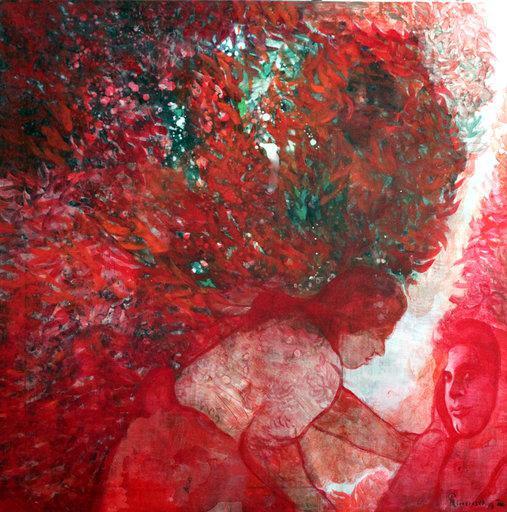 The Traveller, acrylic on canvas, 80 x 80 cm, 2018