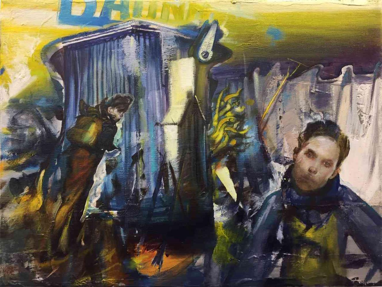 Tassos Missouras, Untitled, Oil on canvas, 30x40 cm, 2019