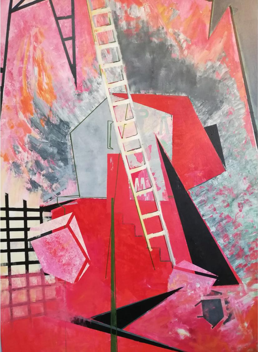 Irene Matsouki, Red, Oil on canvas, 100x70 cm, 2020