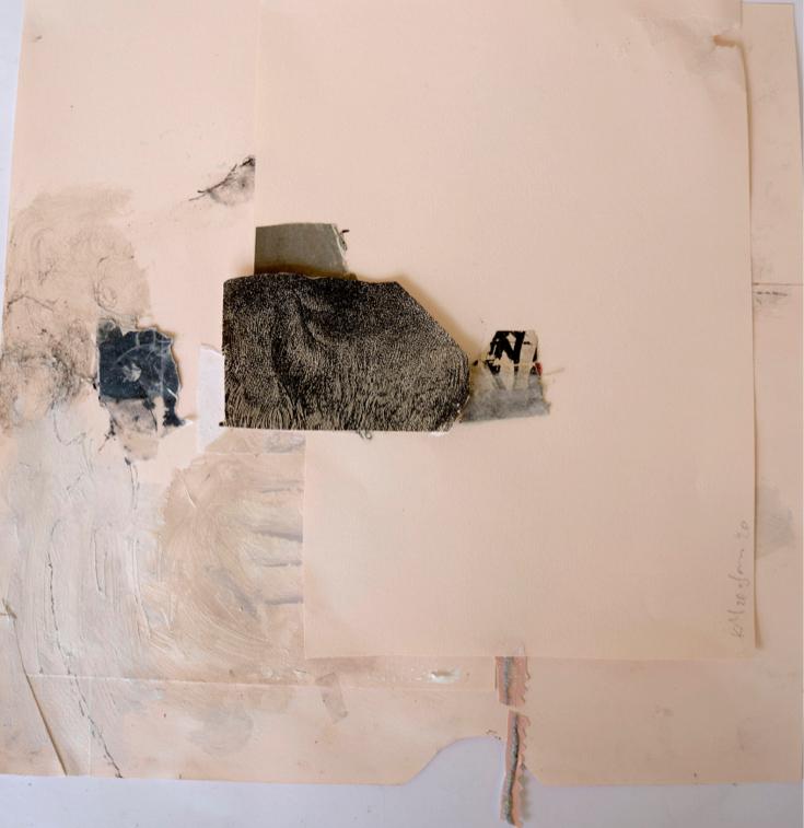 Katerina Mertzani, Zootopia 1, Collage on paper, acrylics, pencil, 34x34 cm, 2020