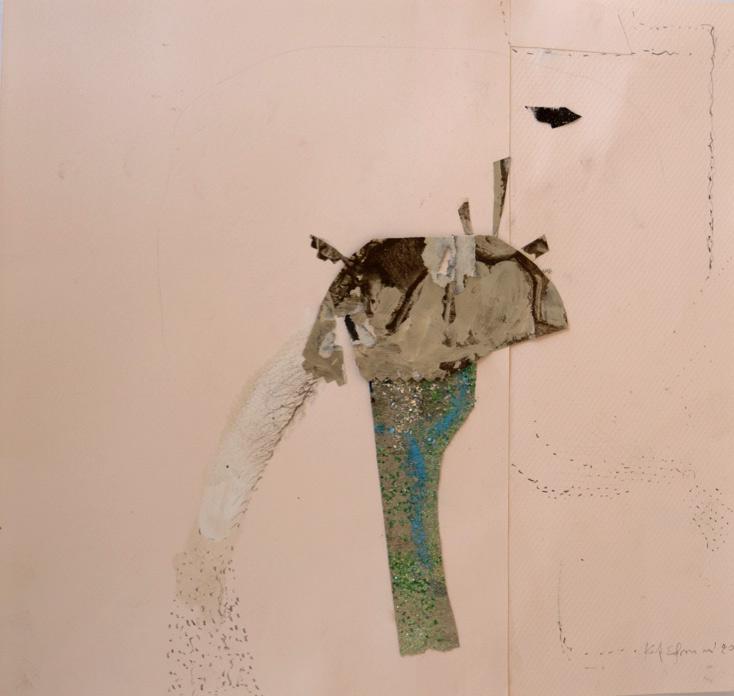Katerina Mertzani, Zootopia 2, Collage on paper, acrylics, pencil, 31x30 cm, 2020