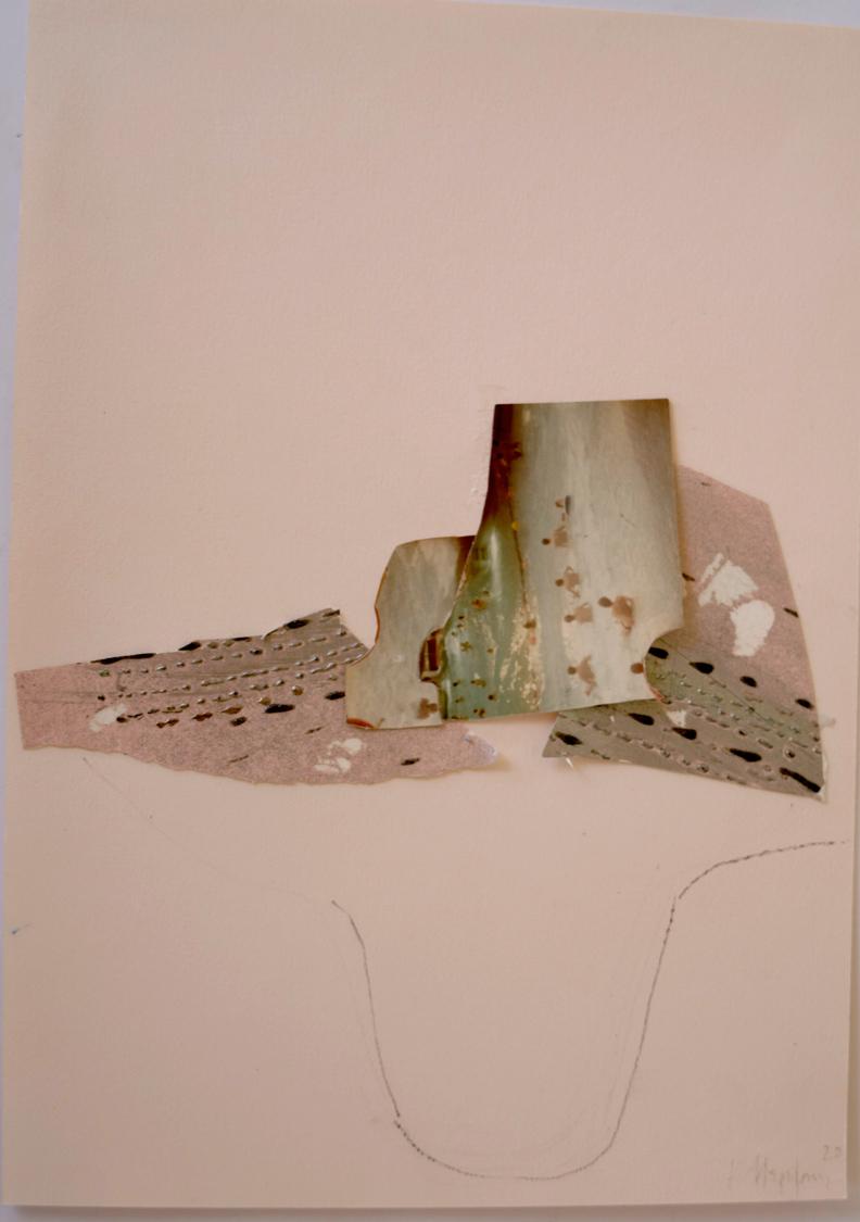 Katerina Mertzani, Zootopia 4, Collage on paper, acrylics, pencil, 30x21 cm, 2020