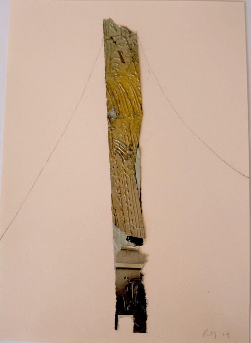 Katerina Mertzani, Zootopia 5, Collage on paper, acrylics, pencil, 30x21 cm, 2020