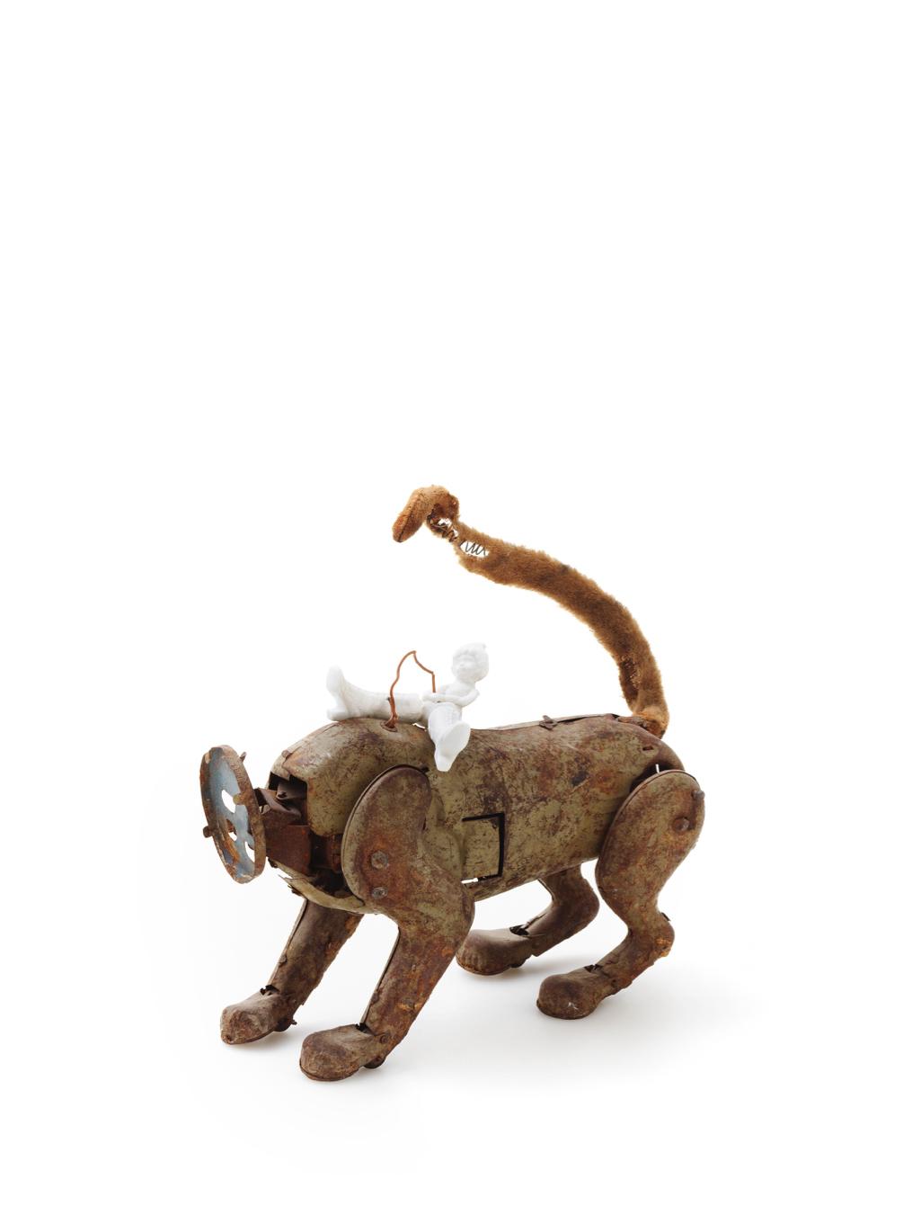 Kyriaki Mavrogeorgi, Escape -Thank you for the day, Porcelain (metal toy), 24x23 cm, 2019,Courtesy of Gallery Genesis