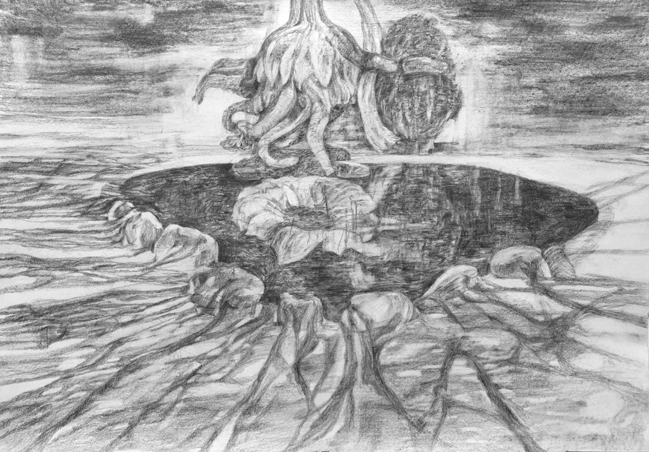 George Kazazis, Pencil on paper, 35x50 cm, 2019
