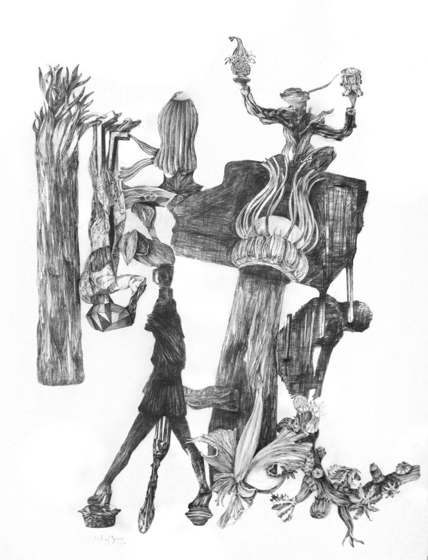 George Kazazis, Pencil on paper, 75x55 cm, 2018