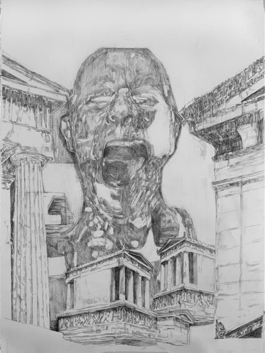 George Kazazis, Pencil on paper, 75x55 cm, 2020