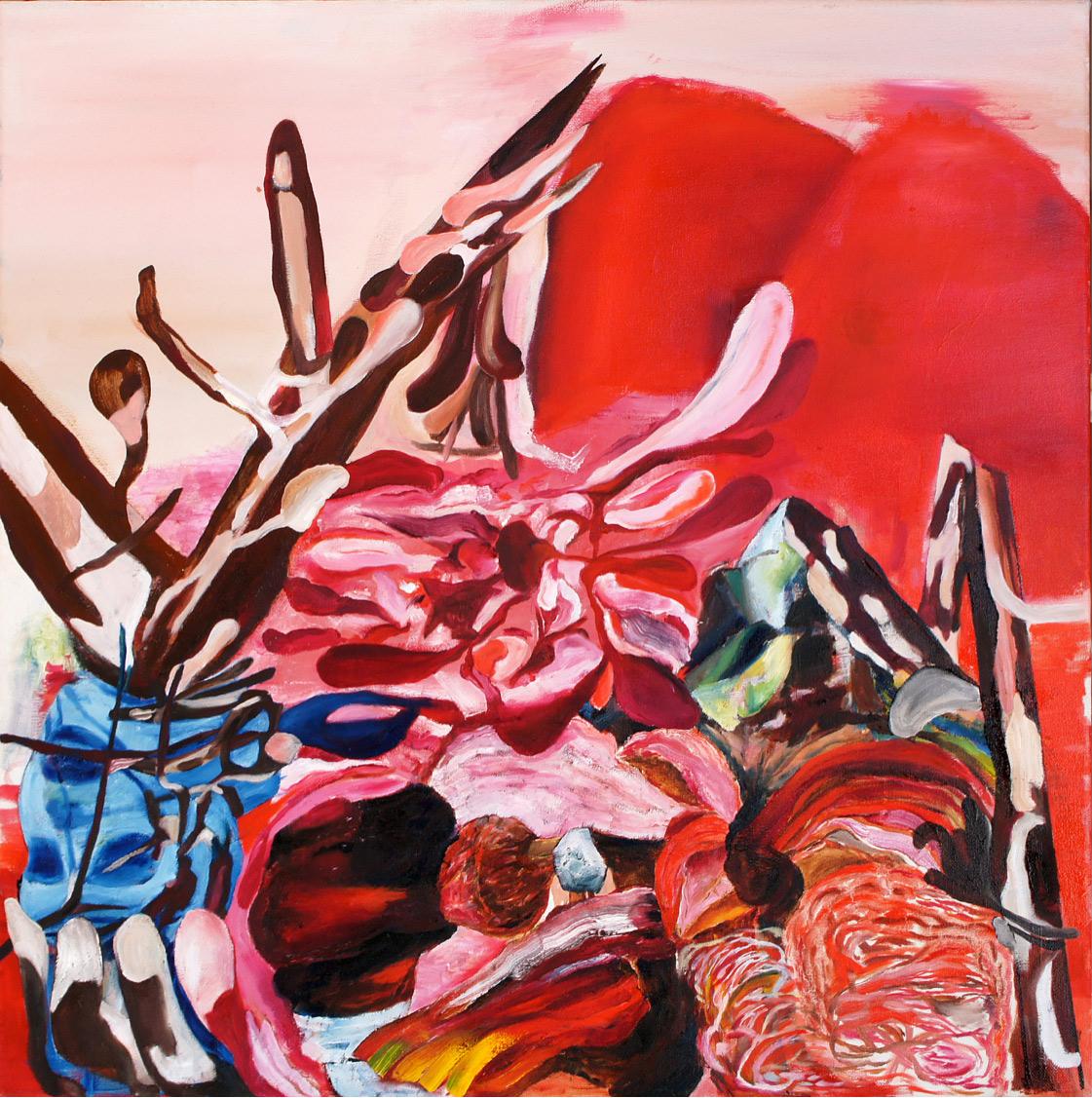 George Kazazis, Lacrimosa, Oil on canvas, 60x60 cm, 2018
