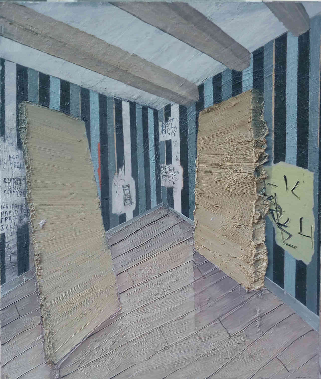 Kyriakos Mortarakos, Interior, 100 x 120 cm, oil on canvas, 2008