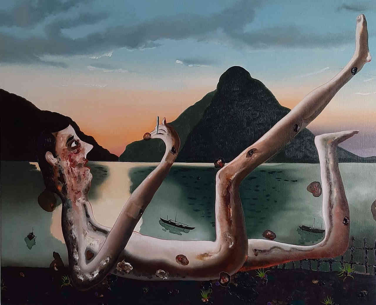 Vangelis Pliarides, El Nido, 90 x 110 cm, oil on linen, 2019