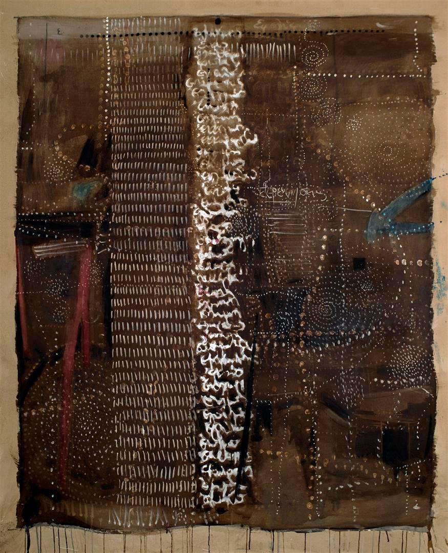 Epistula I, ink on canvas, 175 x 140 cm