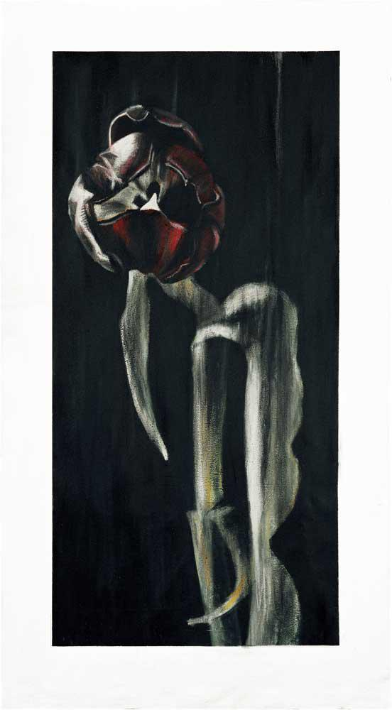 Aggressive, acrylics on canvas, 220 x 120 cm, 2006