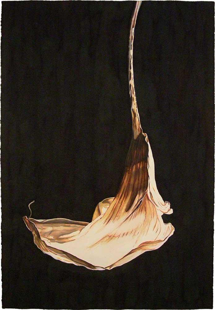 Dancer, ink on handmade paper, 112 x 76 cm, 2008
