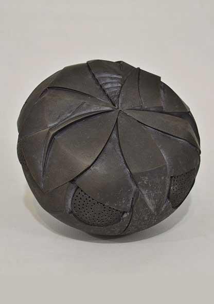 George Vavatsis Hydrangea, stoneware, smoke fired at 950 C, diam. 40 cm, 2013 Artist's Statement + Bio