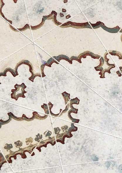 Kostas Karakitsos Piri Reis (detail), paperclay, oxides, stains, glaze, fired at 1270 C, diam. 53 cm Artist's Statement + Bio