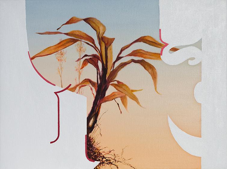 Alexandros Alekidis, Overlay #2, oil on canvas, 30 x 40 cm 2021
