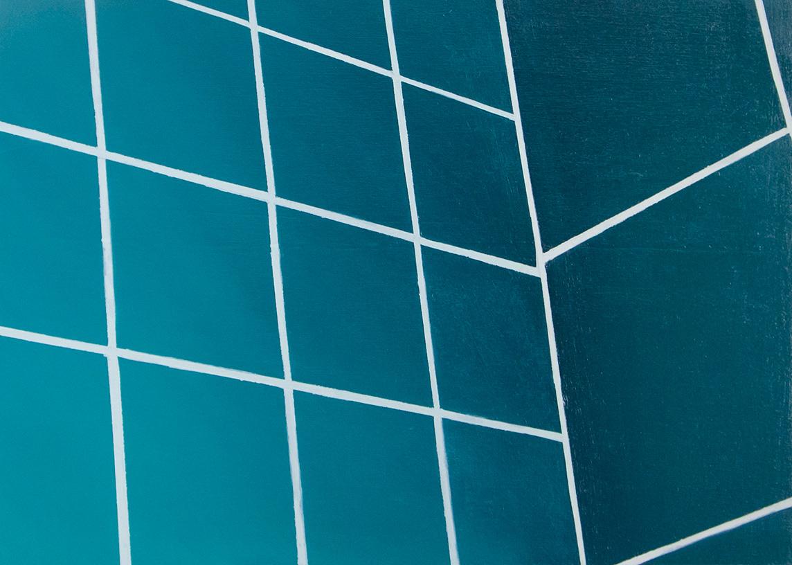 Prodromos Charalampidis, Tiles (series), oil on wood, 30 x 40 cm, 2021