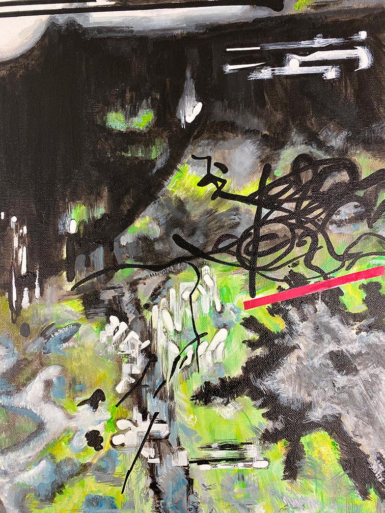 Vana Fertaki, Untitled, acrylics and varnish on canvas, 40 x 30 cm, 2021