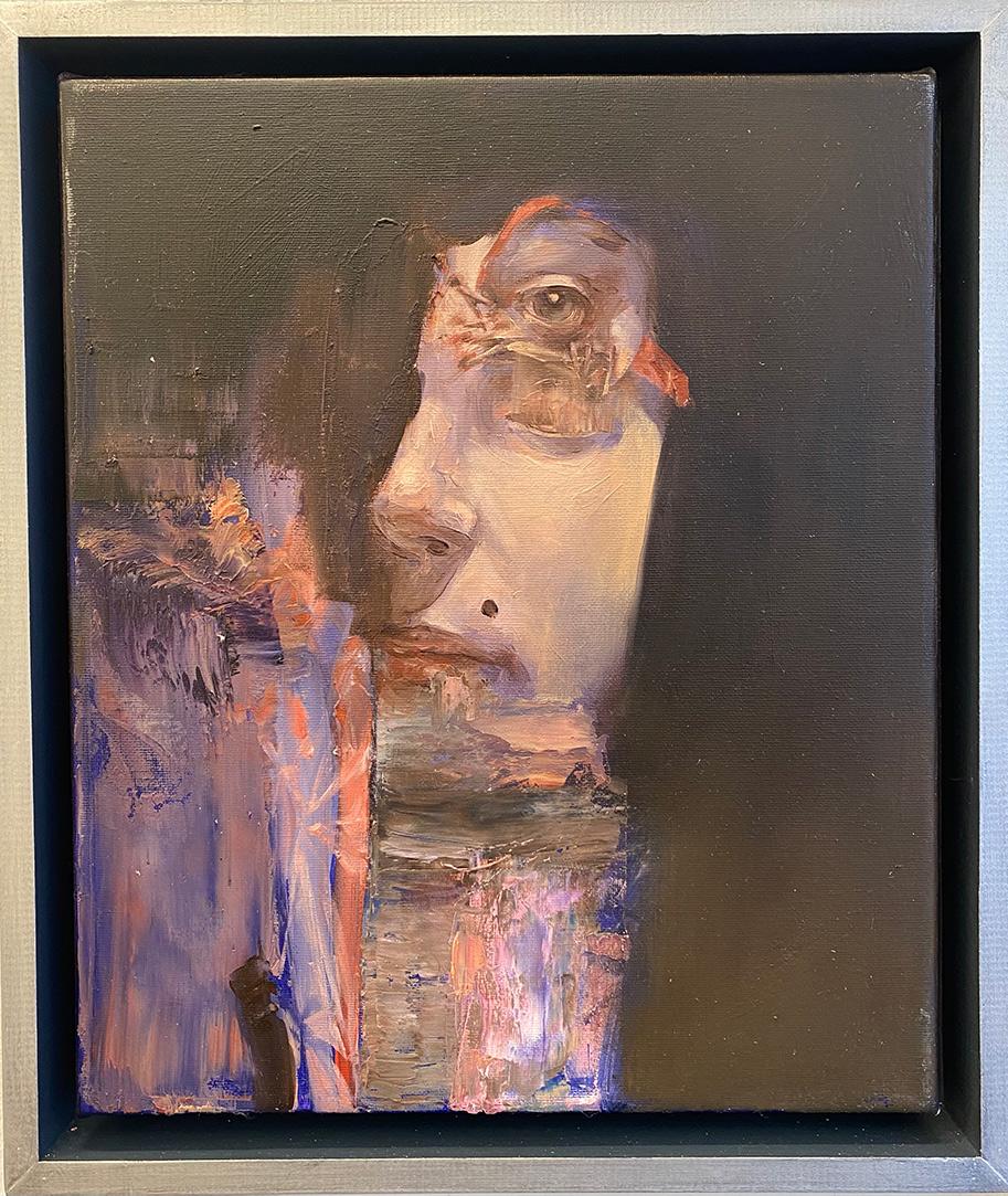 Mózes Incze, Queen, oil on canvas, 30 x 25 cm, 2018