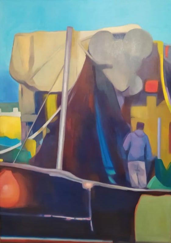 Michalis Kiousis, Untitled, oil on canvas, 41 x 29 cm, 2021