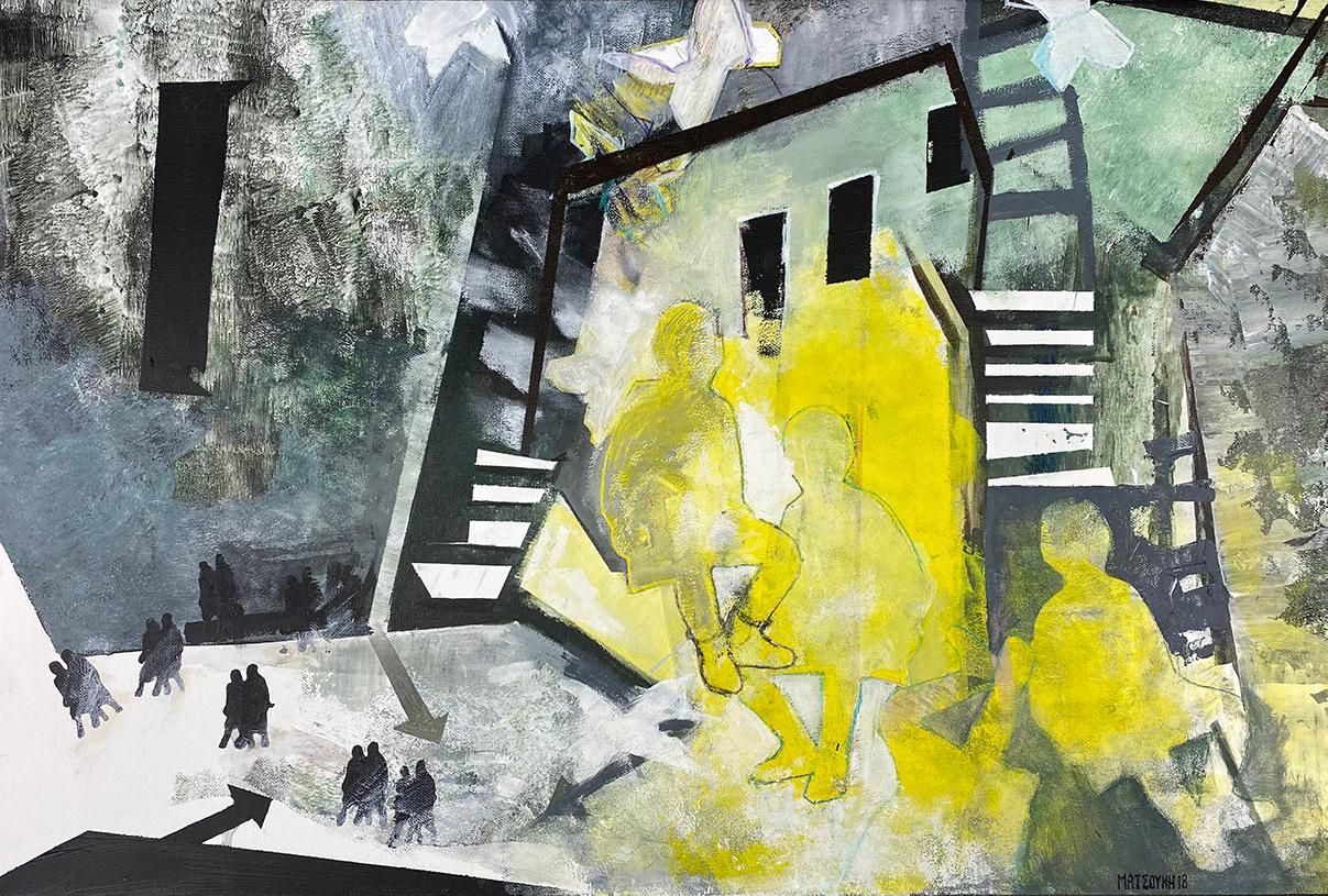 Irini Matsouki, Untitled, oil on canvas, 40 x 60 cm, 2021