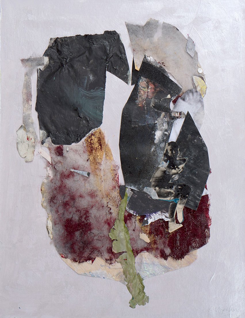 Katerina Mertzani, Wealthy & Worthless, collage and acrylic on paper, 41,5 x 32,5 cm