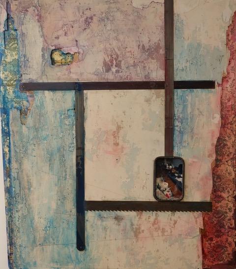 Bourgeois blues, mixed media, 81x70, 2019-20