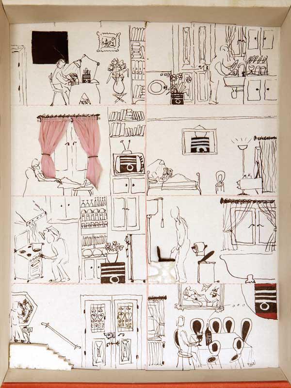 Christos Kotsoulas [Capten], Home Alone II, mixed media, 31 x 23 x 4 cm