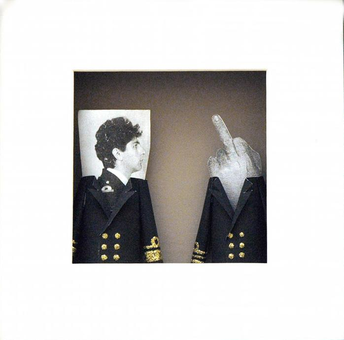 Christos Kotsoulas [Capten], No Words, 25 x 25 x 5 cm, mixed media