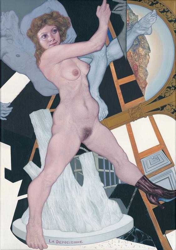Emmanouil Bitsakis, La Deposizione, acrylics on canvas, 50 x 35 cm, 2016