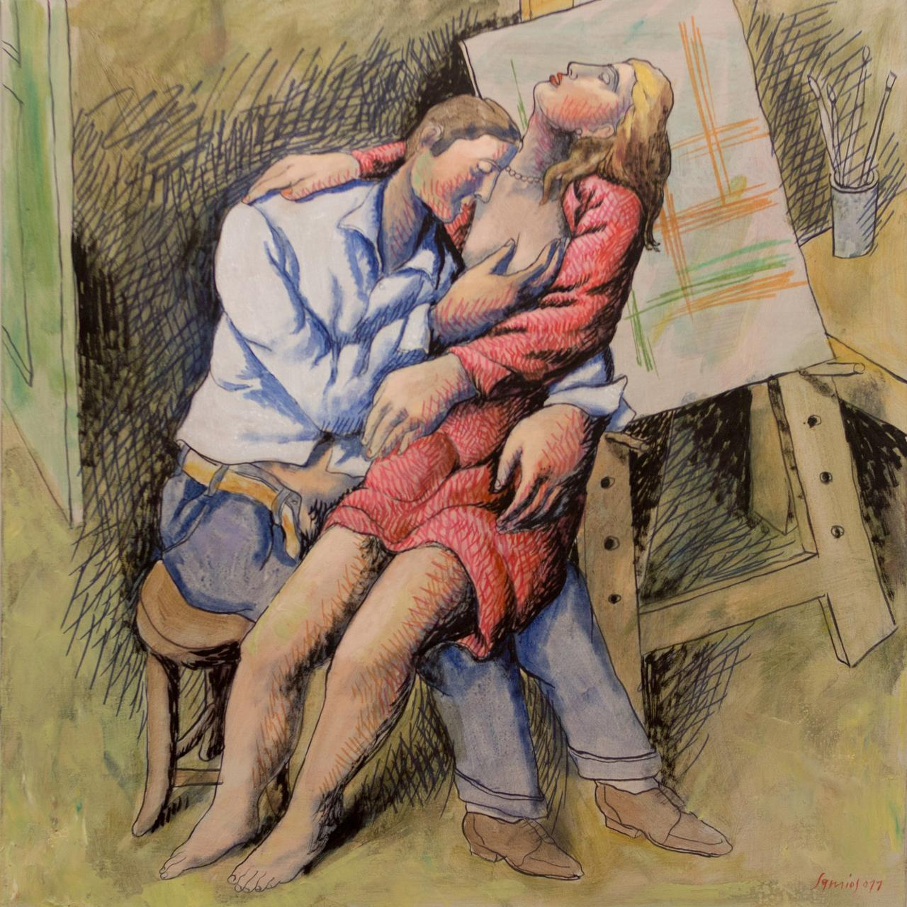 Pavlos Samios, 60.5 x 60.5 cm