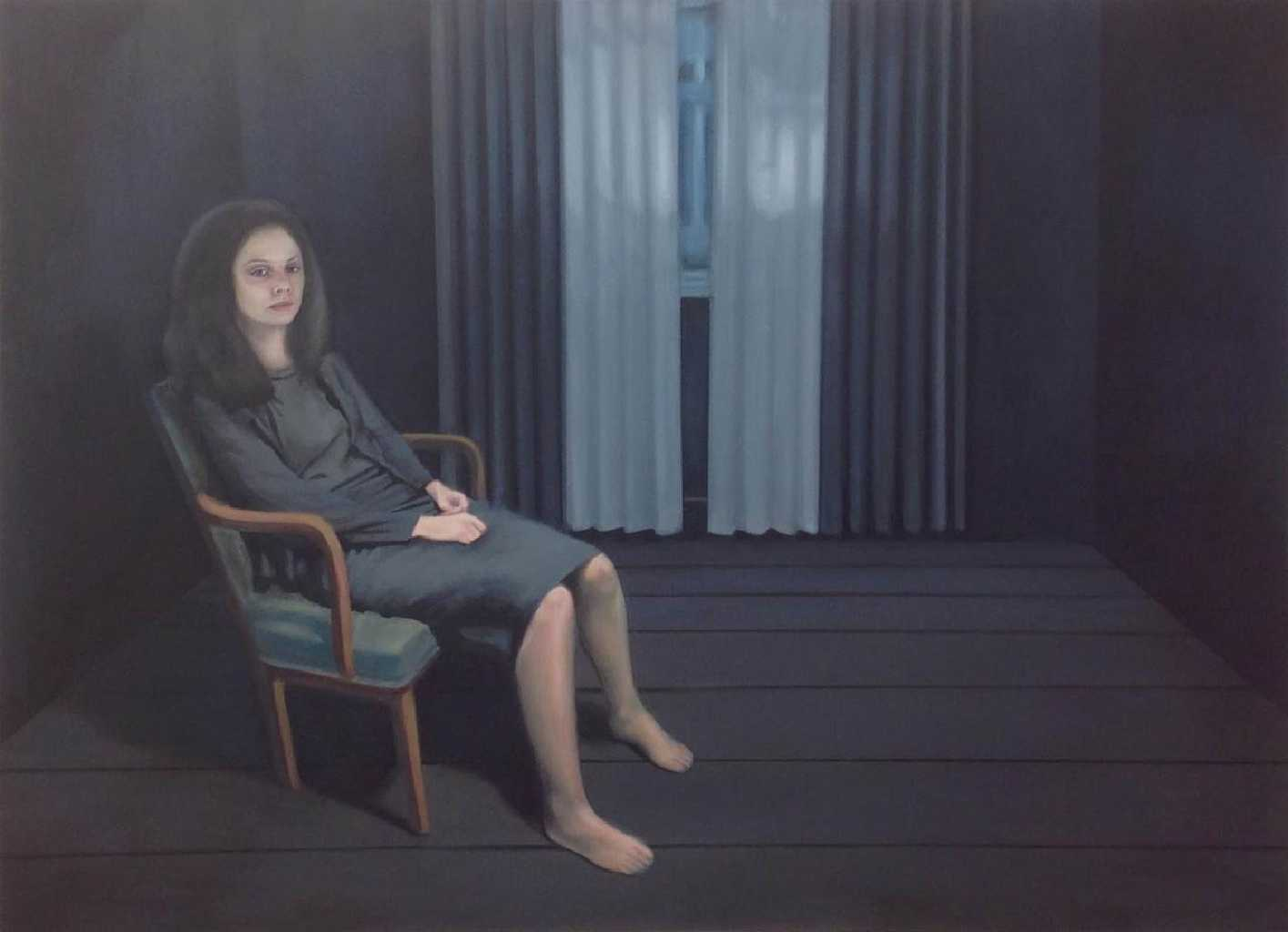 Dark Room, oil on canvas, 110 x 150 cm, 2016