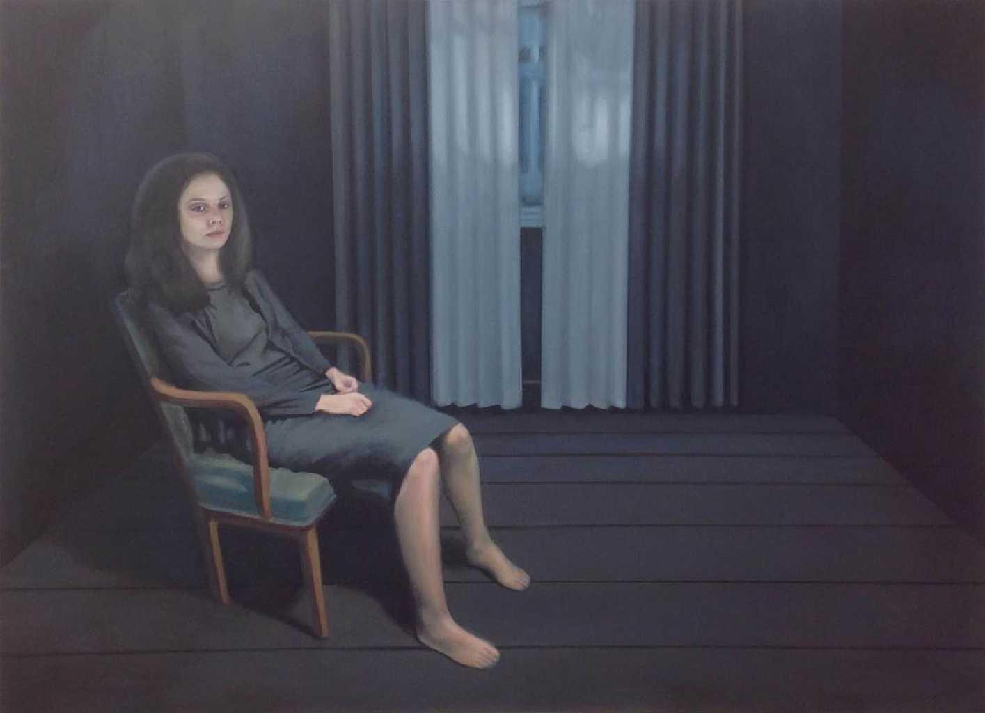 Dark Room, oil on canvas, 110 x 150 cm, 2016