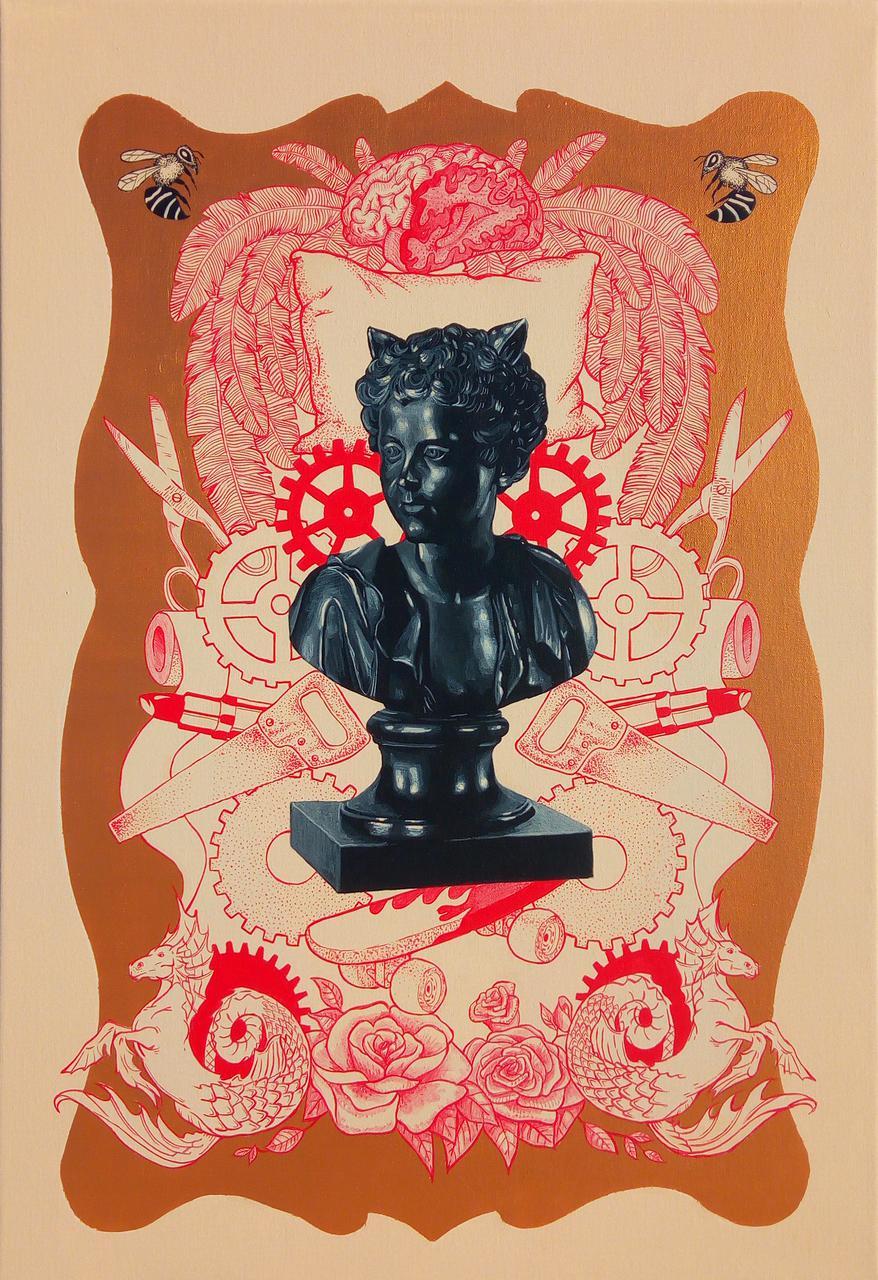 Double Identity, acrylic on canvas, 56 x 81 cm