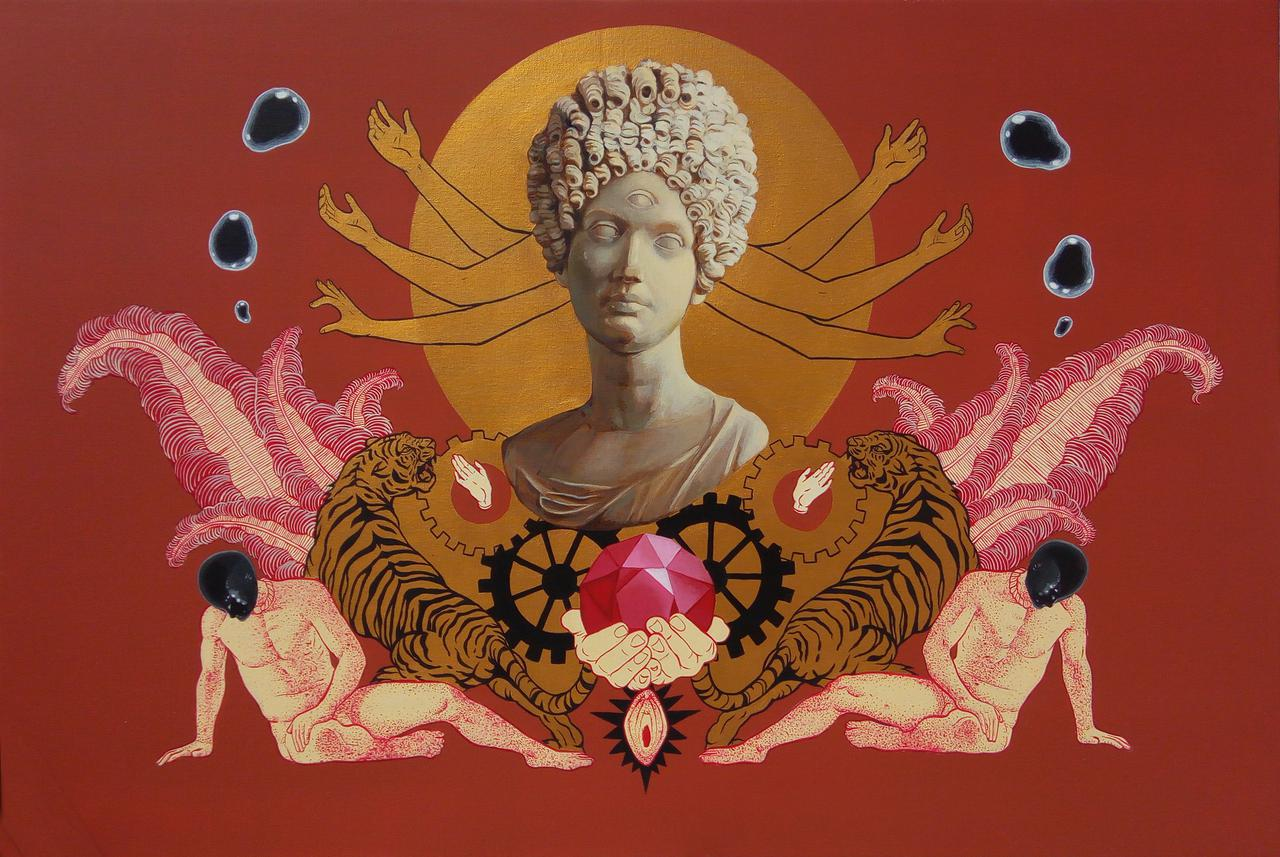 The Womb, acrylic on canvas, 80 x 120 cm