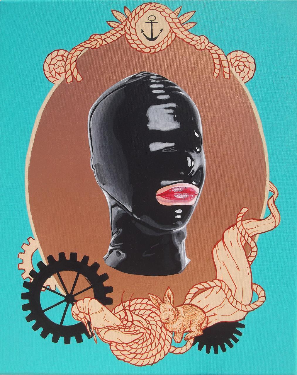 Anti-Portrait, acrylic on canvas, 50x 40 cm