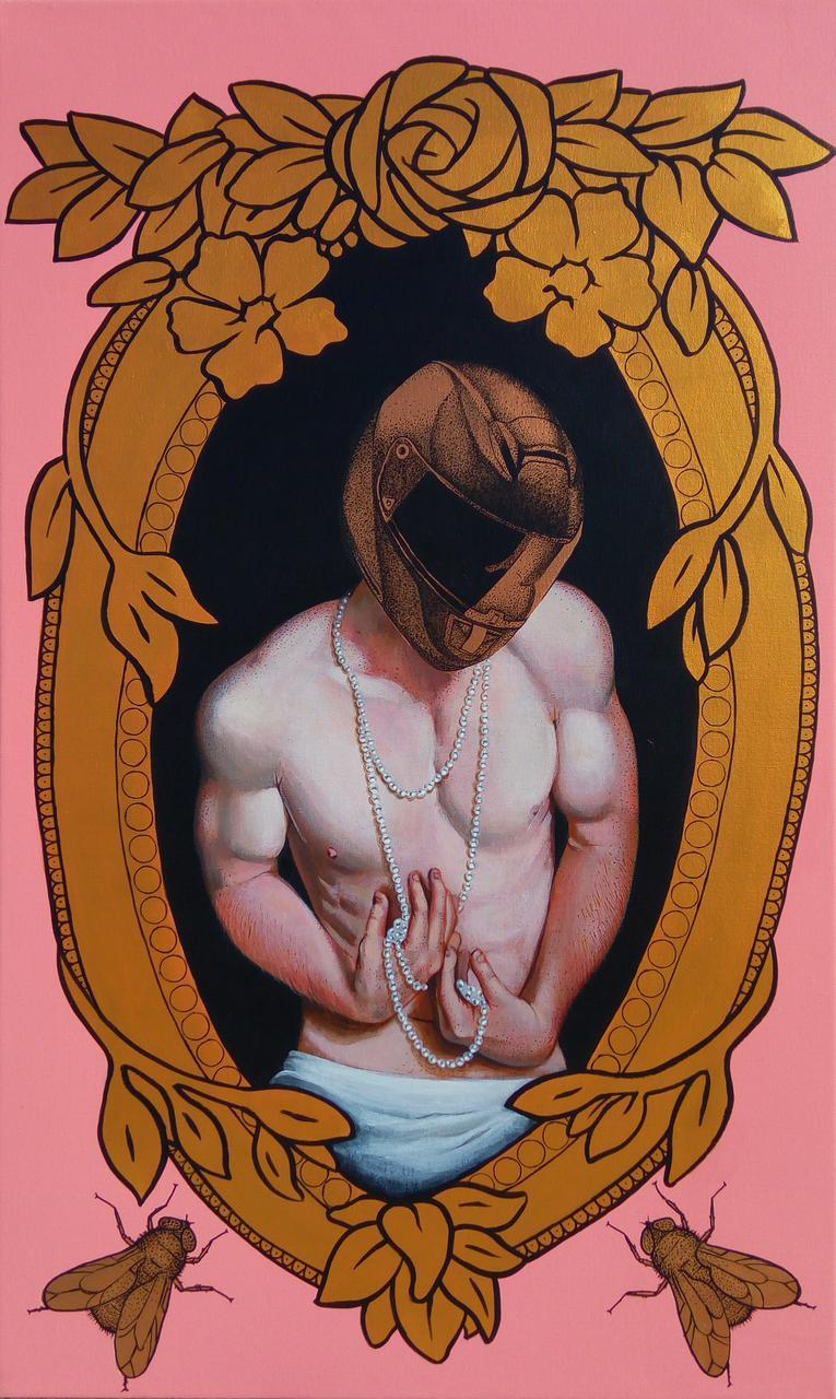 Dorian Gray, acrylic on canvas, 62 x 104 cm