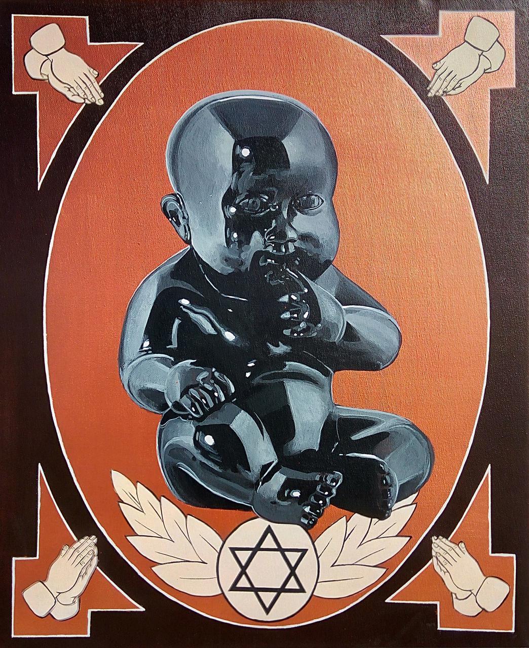 Genesis, acrylic on canvas, 50 x 60 cm