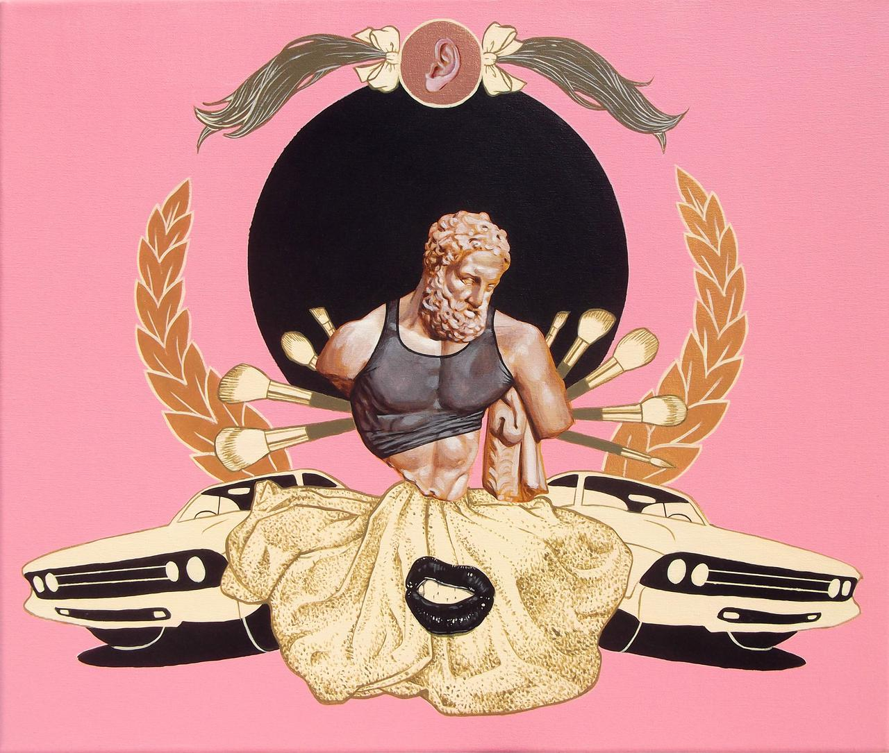 Hercules MMXVII,,acrylic on canvas,60 x 50 cm