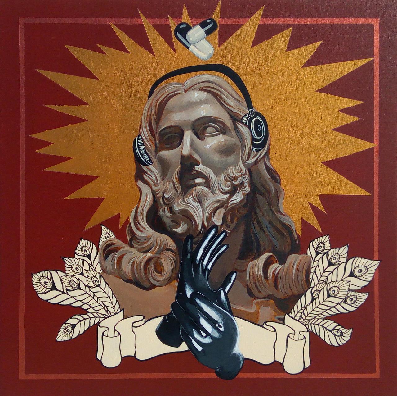 Holy Molly, acrylic on canvas, 60 x 60 cm
