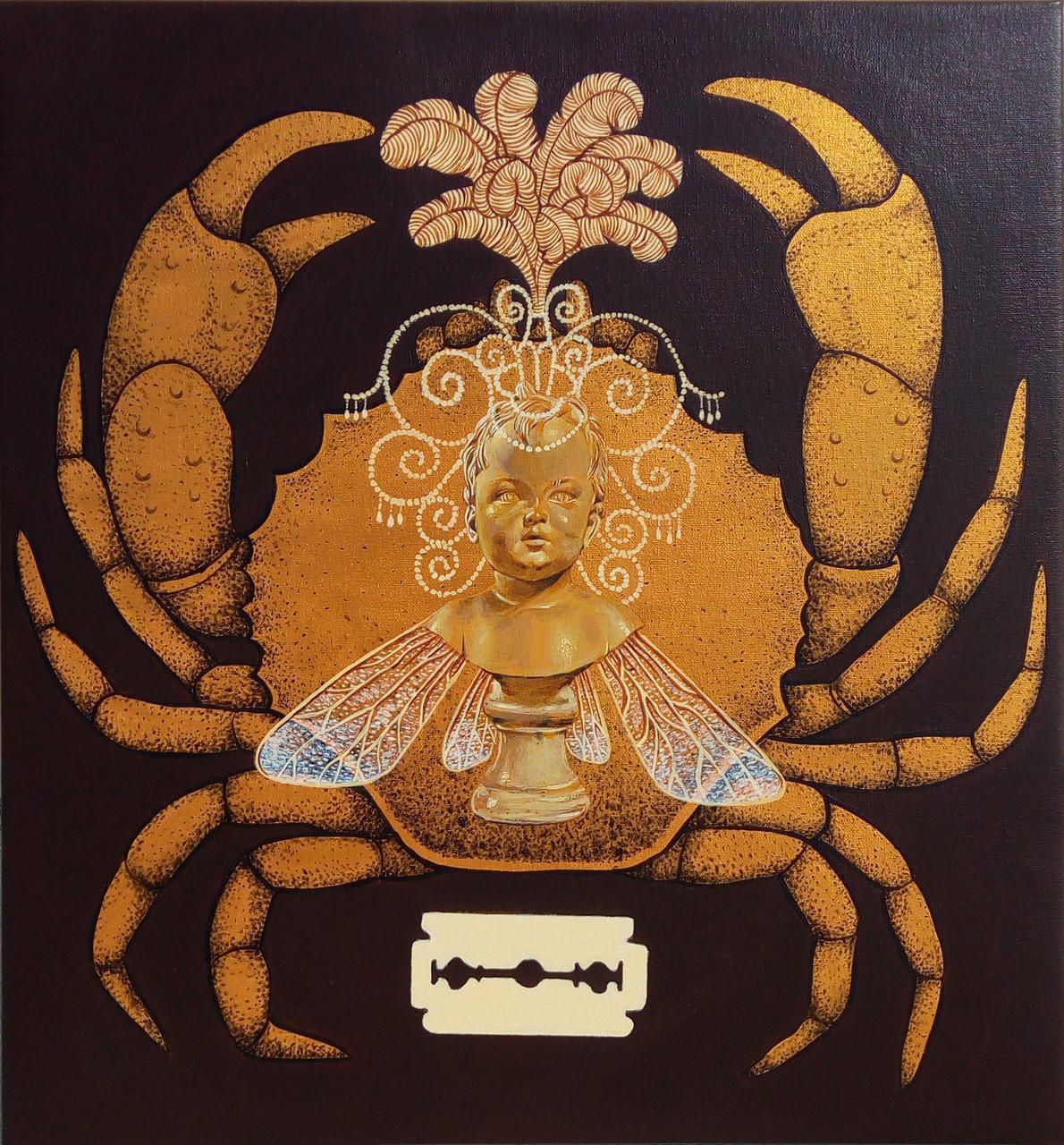 Showgirl, acrylic on canvas,55 x 51 cm