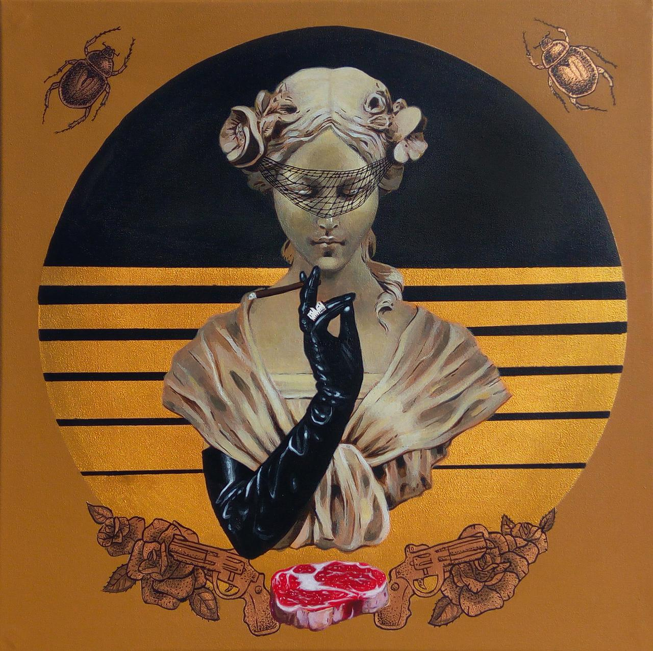 The Widow, acrylic on canvas, 50 x 50 cm