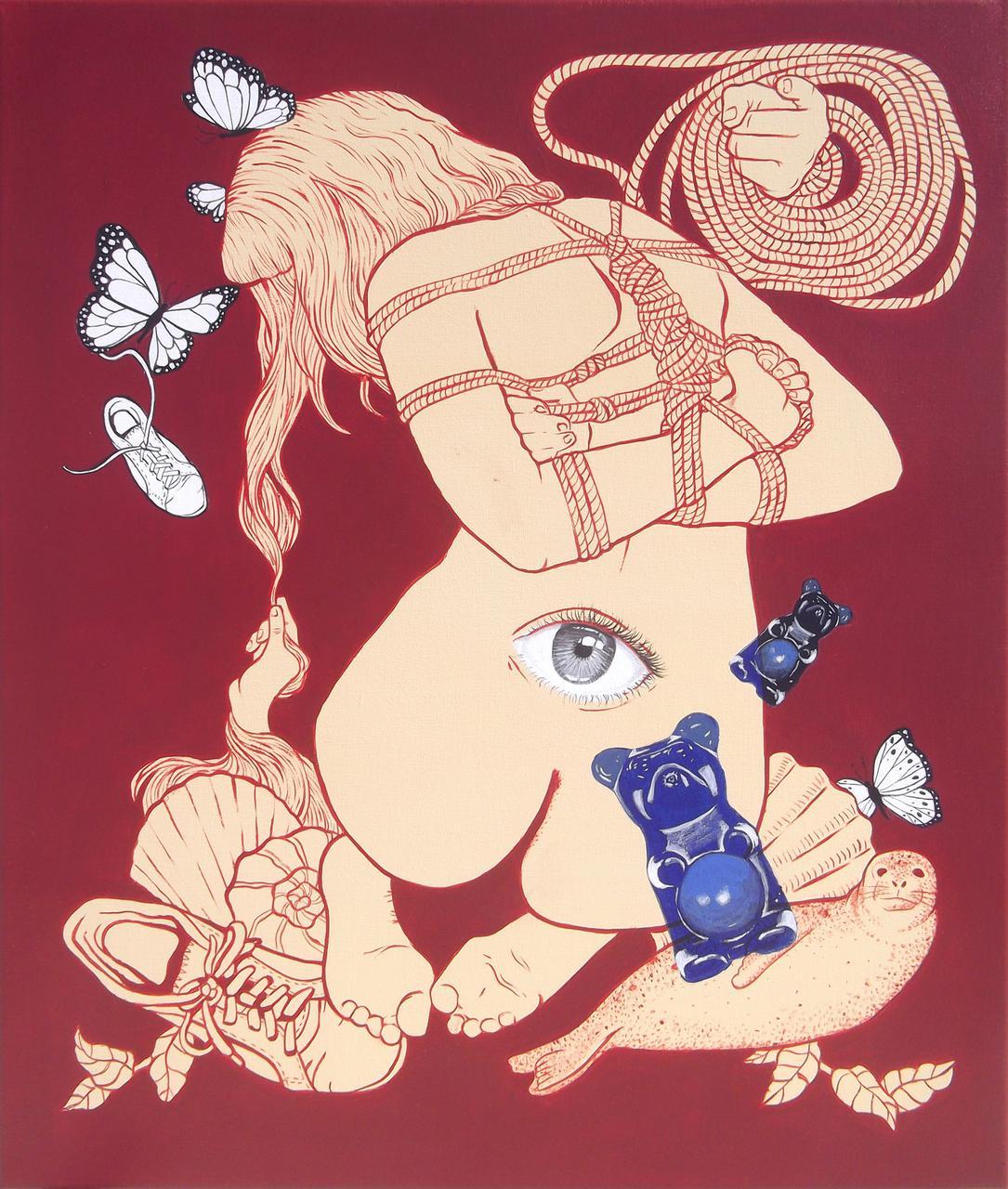 Untitled, acrylic on canvas, 52 x 62 cm