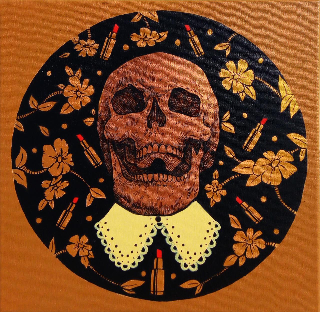 Vanity, acrylic on canvas, 30 x 30 cm