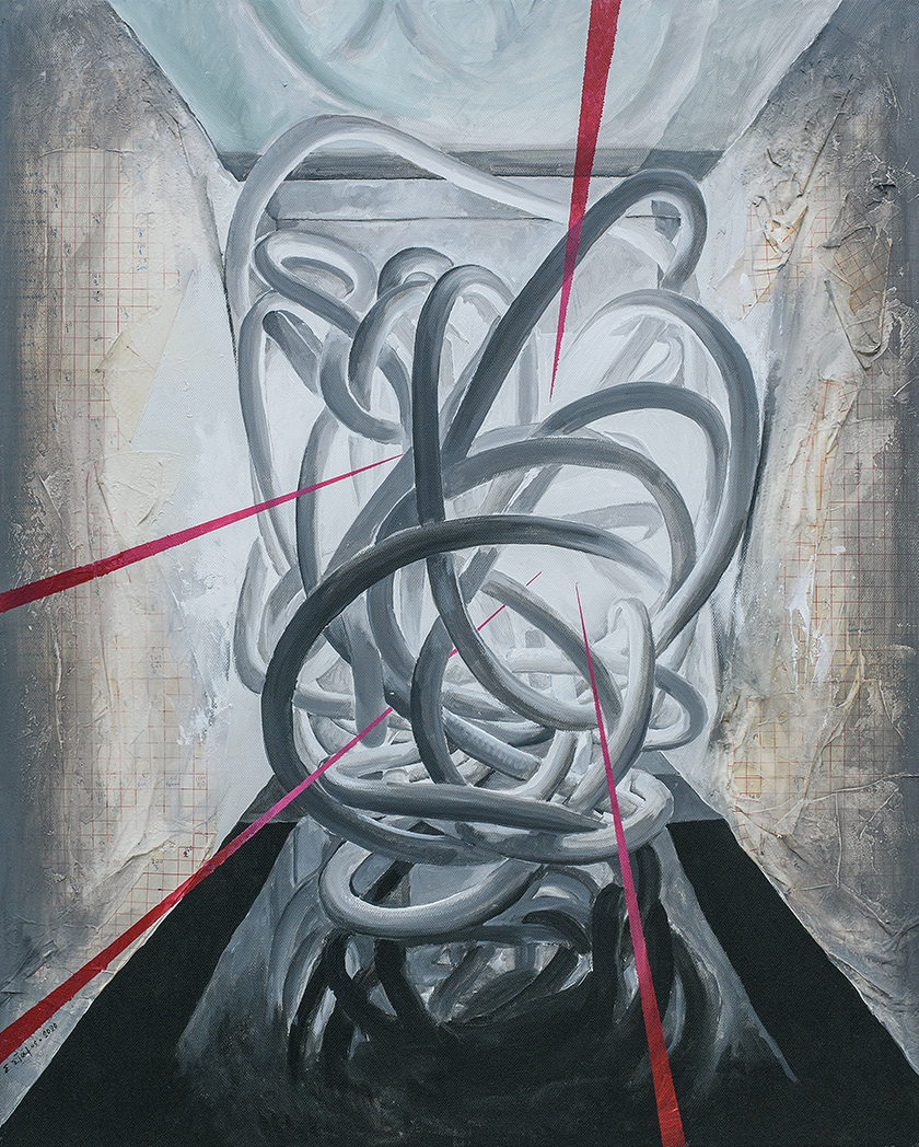 Entrapment, Acrylics on canvas, 100 x 80 cm, 2020, Athens