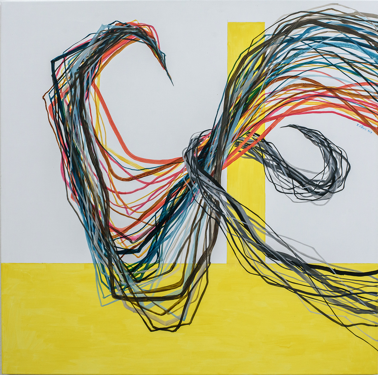 Untitled, Acrylics on canvas, 100 x 100 cm, 2019, Trikala