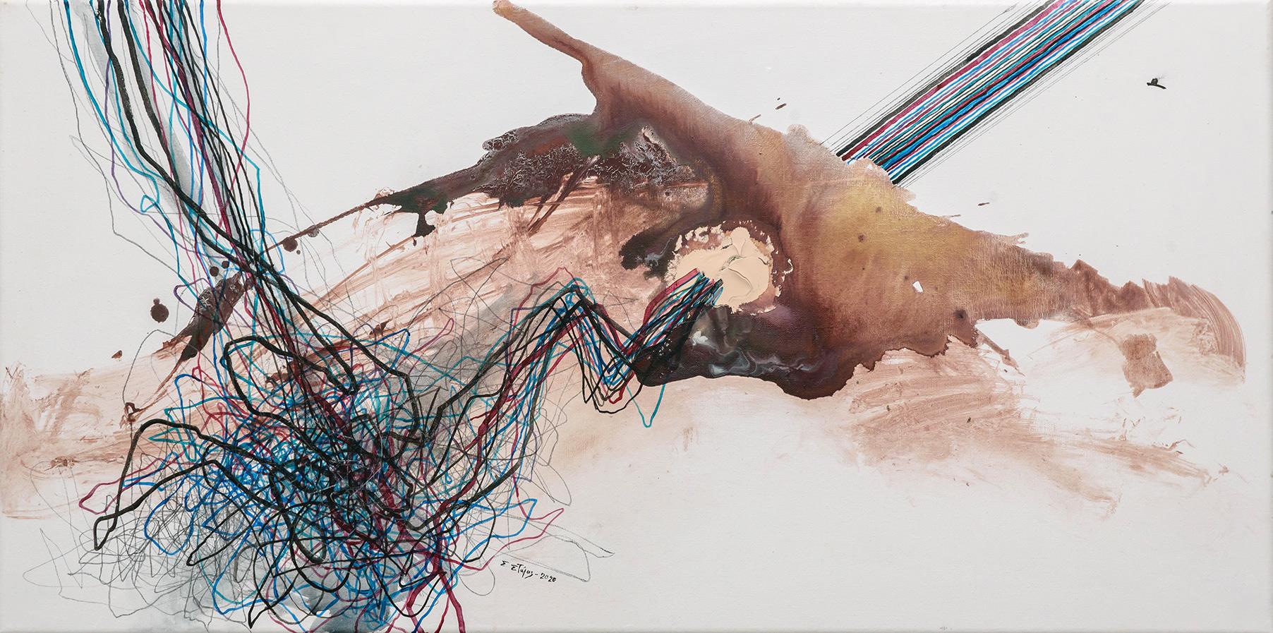 Untitled, Acrylics on canvas, 50 x 100 cm, 2020, Trikala