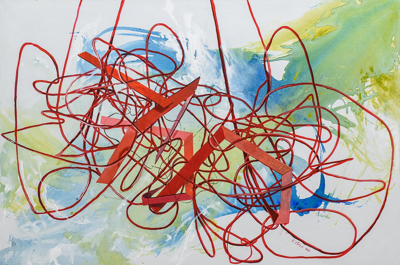 Untitled, Acrylics on canvas, 80 x 120 cm, 2020, Trikala