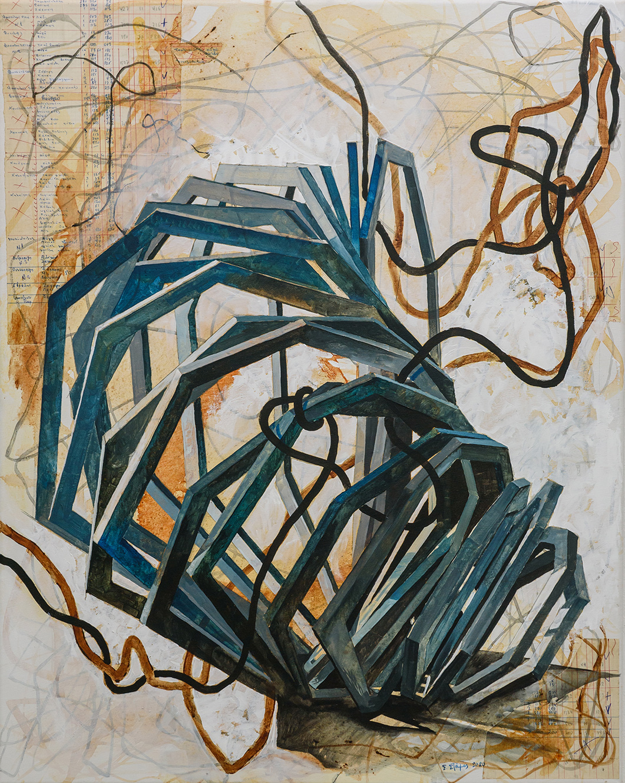 Untitled, Acrylics on canvas, 100 x 80 cm, 2020, Trikala